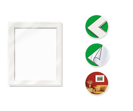 Malen-nach-Zahlen-Zubehör Passepartout für Bildformat 40 x 50 cm (mit Kunststoff-Glasscheibe)