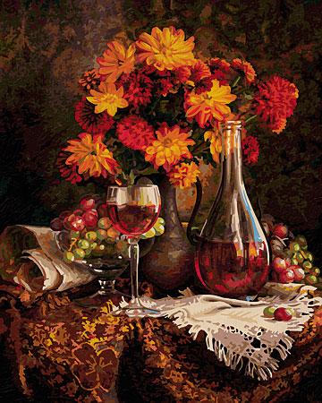 Malen nach Zahlen Bild Herbstastern - 609130663 von Schipper
