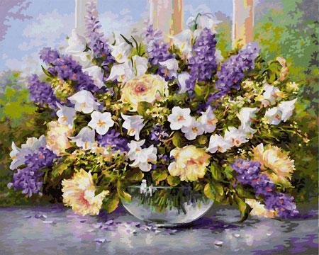 Vase mit Sommerblumen