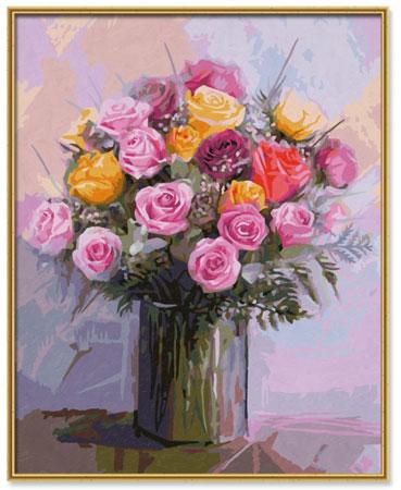 Malen nach Zahlen Bild Rosenstrauß in Pastellfarben - 609130749 von Schipper