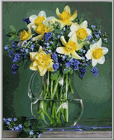 Malen nach Zahlen Bild Frühlingsblumen - 609130789 von Schipper