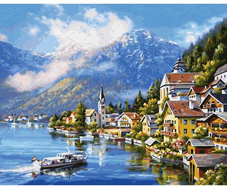Malen nach Zahlen Bild Am Hallstätter See - 609130802 von Schipper