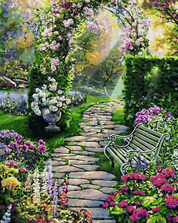 Malen Nach Zahlen Bilder Von Landschaften Gärten Bei Kreativ