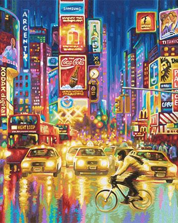 Malen nach Zahlen Bild New York Times Square - 609130815 von Schipper