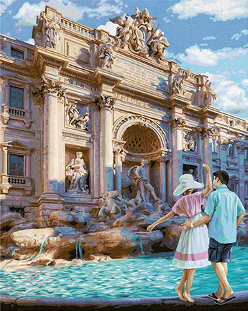 Malen nach Zahlen Bild Fontana di Trevi in Rom - 609130819 von Schipper