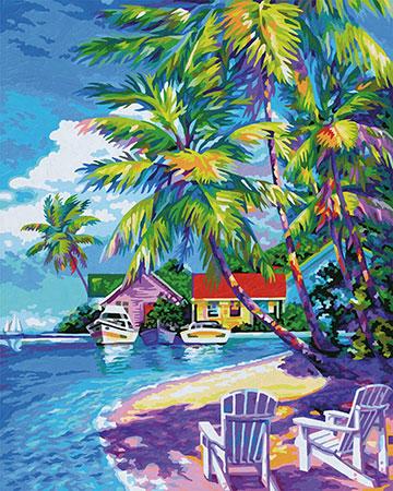 Malen nach Zahlen Bild Sonnige Karibik - 609130830 von Schipper