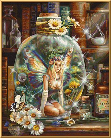 Malen nach Zahlen Bild Die Schmetterlingsfee - 609130843 von Schipper
