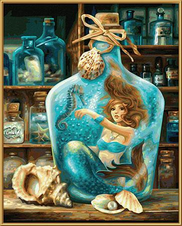 Malen nach Zahlen Bild Die Meerjungfrau - 609130844 von Schipper