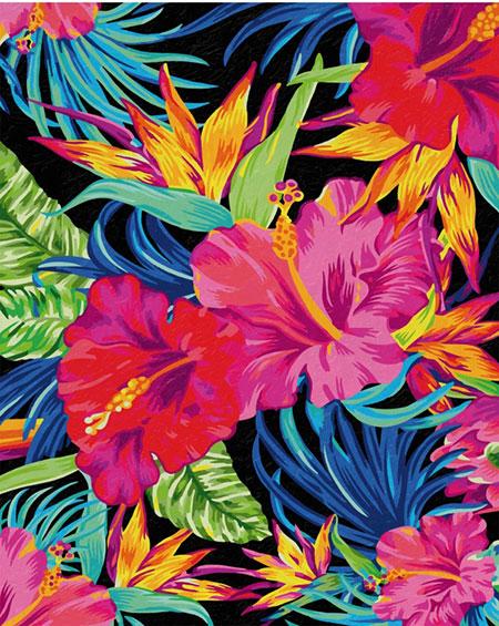 Malen nach Zahlen Bild Exotische Blütenträume - 609130851 von Schipper