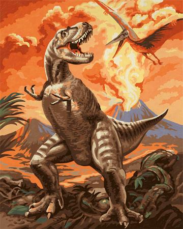 Malen nach Zahlen Bild Tyrannosaurus - 609170565 von Schipper