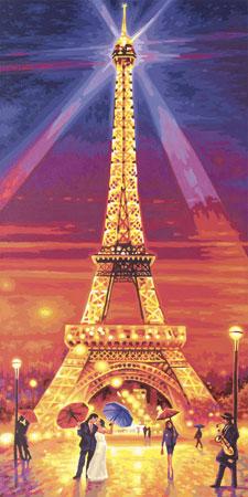 Malen nach Zahlen Bild Der Eiffelturm bei Nacht - 609220716 von Schipper