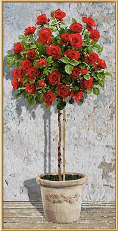 Malen nach Zahlen Bild Rosenbäumchen Rot - 609220776 von Schipper