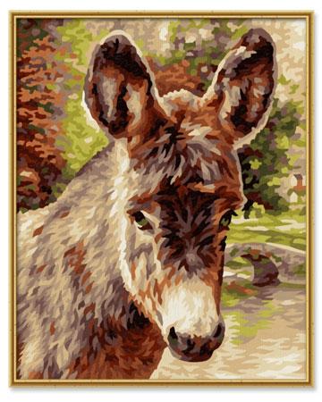 Malen nach Zahlen Bild Kleines Eselchen - 609240743 von Schipper