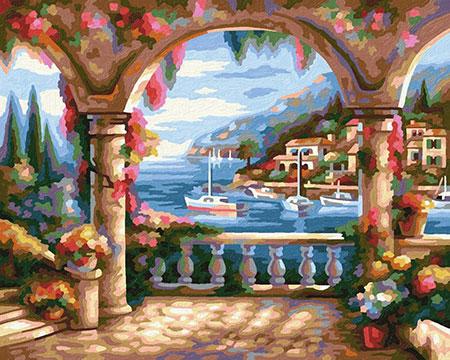 Malen nach Zahlen Bild Villa am Meer - 609240800 von Schipper