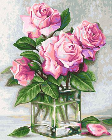 Malen nach Zahlen Bild Rosen für Dich - 609240828 von Schipper