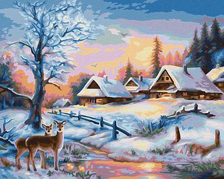 Malen nach Zahlen Bild Winterlandschaft - 609240833 von Schipper