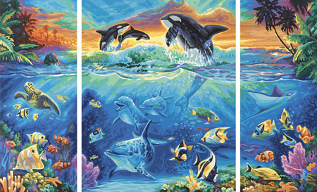 Malen nach Zahlen Bild Am Korallenriff - 609260531 von Schipper