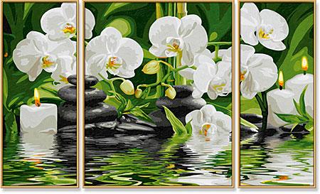 Malen nach Zahlen Bild Wellness-Oase - Triptychon - 609260681 von Schipper