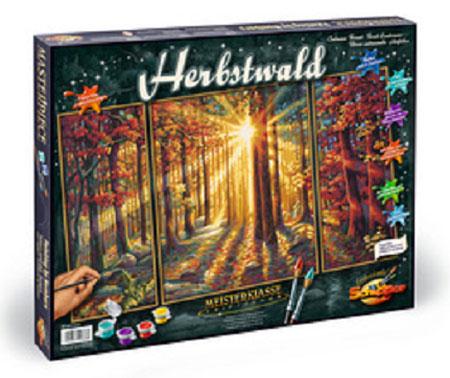 Malen nach Zahlen Bild Herbstwald - 609260688 von Schipper