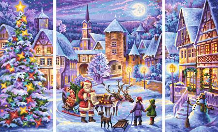 Malen nach Zahlen Bild Weiße Weihnacht - Triptychon - 609260730 von Schipper