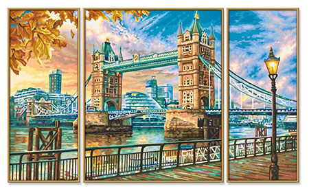 London Tower Bridge - Triptychon