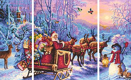 Malen nach Zahlen Bild Der Weihnachtsmann kommt! - 609260758 von Schipper