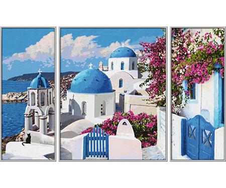 Malen nach Zahlen Bild Santorin - Triptychon - 609260783 von Schipper