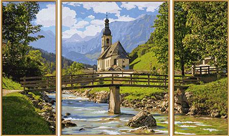 Malen nach Zahlen Bild St. Sebastian in der Ramsau - 609260839 von Schipper