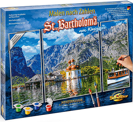 Malen nach Zahlen Bild St. Bartholomä am Königssee - 609260841 von Schipper