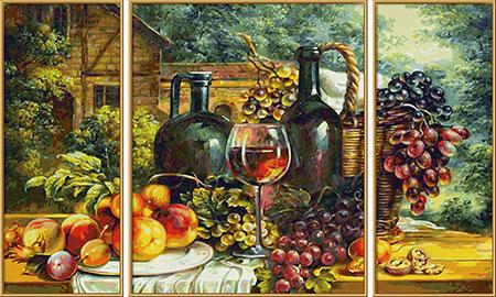 Malen nach Zahlen Bild Stillleben mit Weintrauben - 609260847 von Schipper