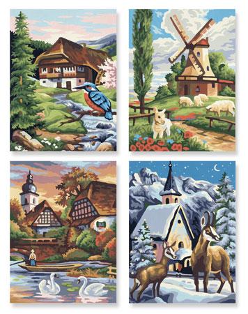 Malen nach Zahlen Bild Die vier Jahreszeiten - 609340552 von Schipper