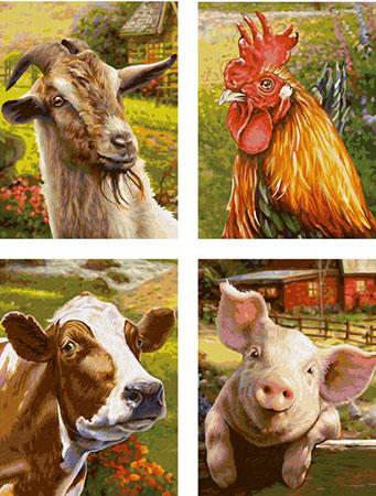 Malen nach Zahlen Bild Auf dem Bauernhof (Quattro) - 609340849 von Schipper