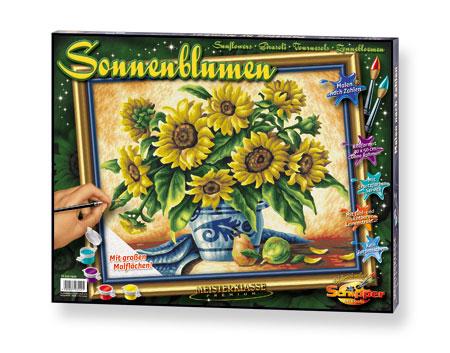 Malen nach Zahlen Bild Sonnenblumen - 609350549 von Schipper