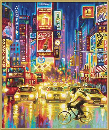 Malen nach Zahlen Bild New York Times Square - 609360555 von Schipper