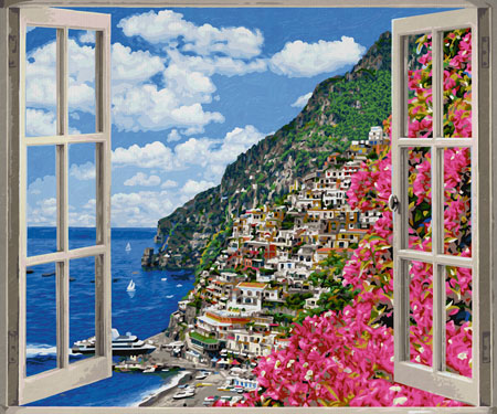 Malen nach Zahlen Bild Positano an der Amalfiküste - 609360724 von Schipper