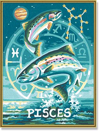 Malen nach Zahlen Bild Tierkreiszeichen Fische - 609390671 von Schipper