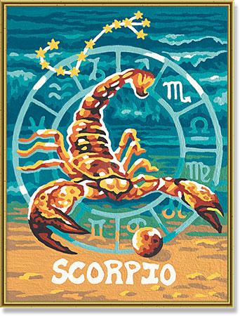 Malen nach Zahlen Bild Tierkreiszeichen Skorpion - 609390679 von Schipper