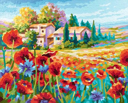Malen nach Zahlen Bild Mohnblumenfelder - 609430727 von Schipper