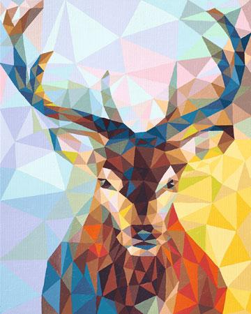 Malen nach Zahlen Bild Polygon Art - Hirsch - 609460737 von Schipper