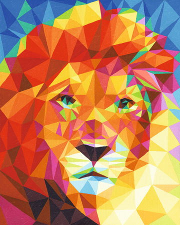Polygon Art - Löwenkopf