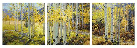 Malen nach Zahlen Bild Goldener Oktober - Triptychon - 609470829 von Schipper