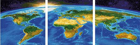 Malen nach Zahlen Bild Unser Planet (Triptychon) - 609470855 von Schipper