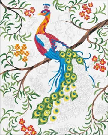 Malen nach Zahlen Bild Relax & Color - Pfau - 609480744 von Schipper