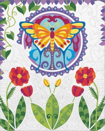 Malen nach Zahlen Bild Relax & Color - Schmetterling - 609480748 von Schipper