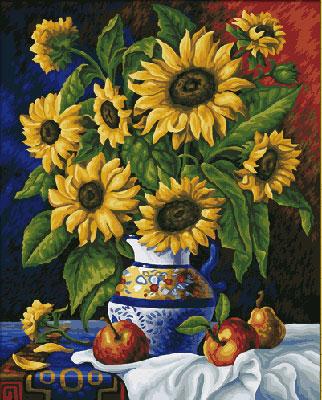 Malen nach Zahlen Bild Stillleben mit Sonnenblumen - 609130308 von Schipper
