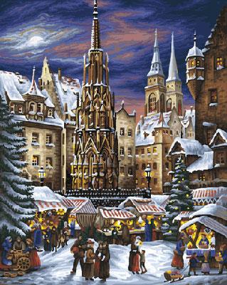 Malen nach Zahlen Bild Der Nürnberger Christkindlesmarkt um 1900 - 609130336 von Schipper