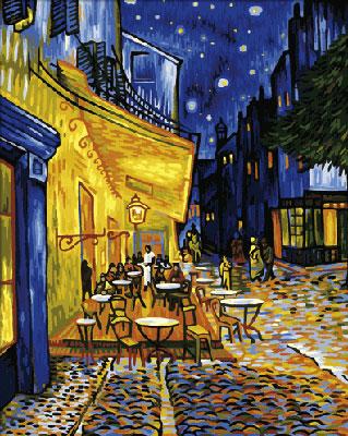 Malen nach Zahlen Bild Nachtcafe - 609130359 von Schipper