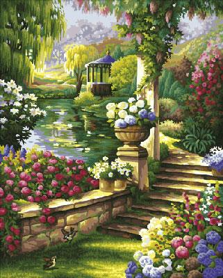 Malen nach Zahlen Bild Gartenparadies - 609130379 von Schipper