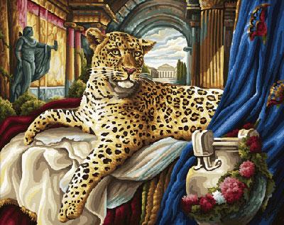 Malen nach Zahlen Bild Römischer Leopard - 609130384 von Schipper