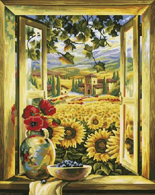 Malen nach Zahlen Bild Sonnenblumen-felder - 609130405 von Schipper